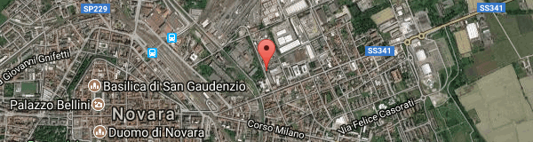 Google Map of via bovio 6, novara, it